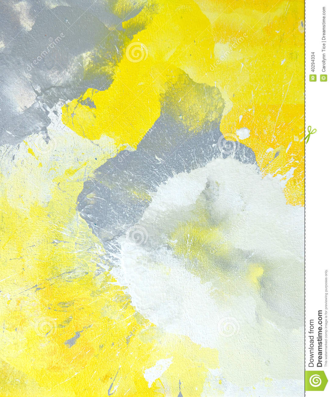 Grey And Yellow Abstract Art Painting Stock Photo Image