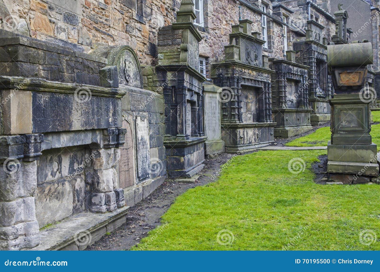 Greyfriars kyrkogård i Edinburg