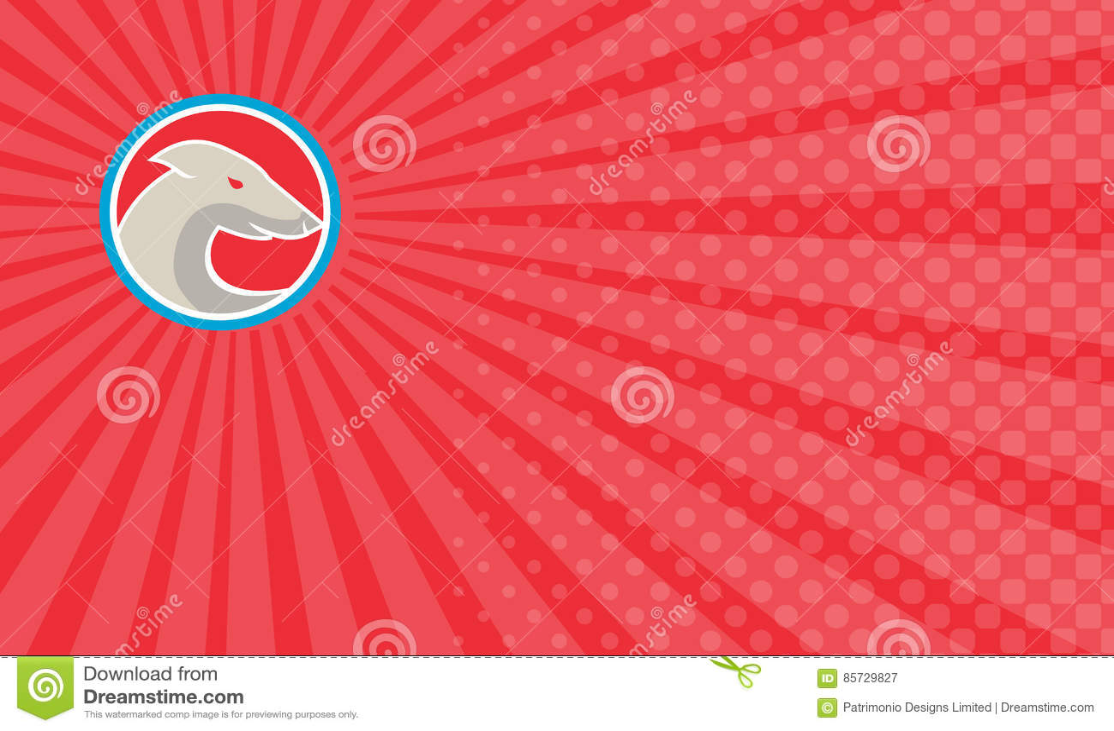 Greyhound Car Wash Business Card Stock Illustration Illustration
