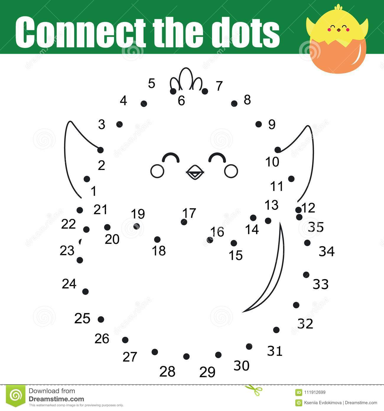 Grid Copy Worksheet. Educational Children Game. Printable ...