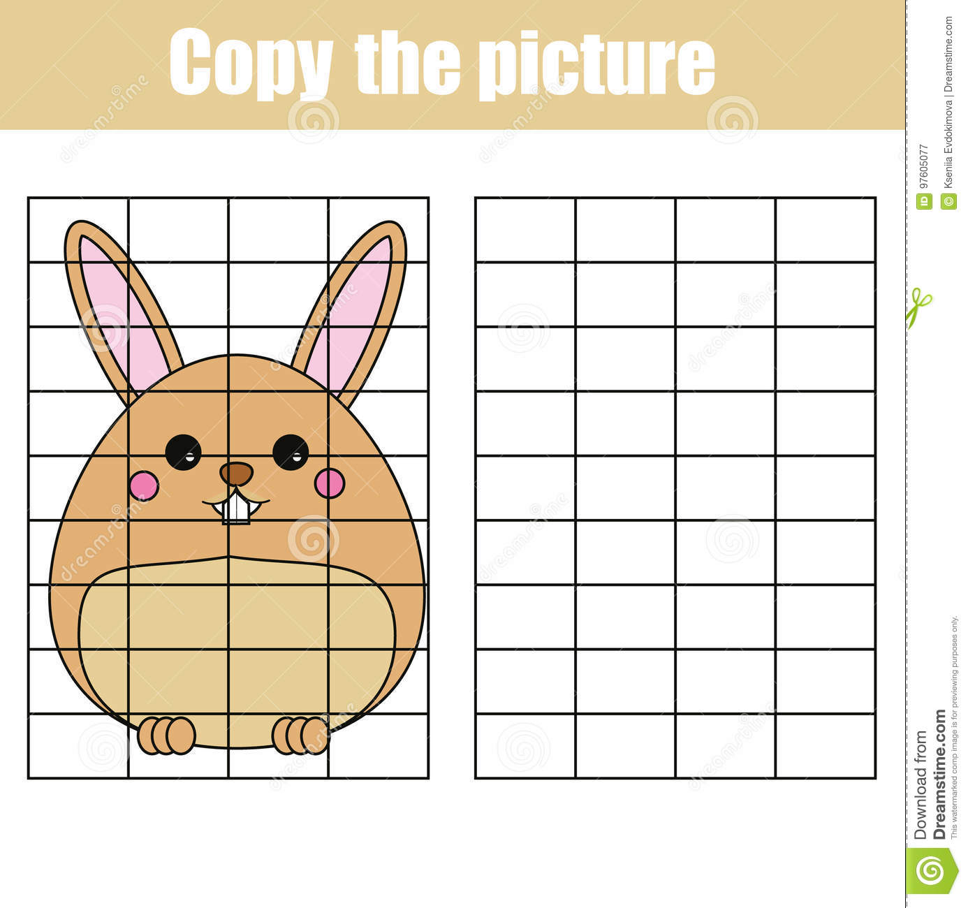 photo relating to Character Development Worksheet Printable identified as Grid Reproduction Worksheet. Useful Little ones Activity. Printable