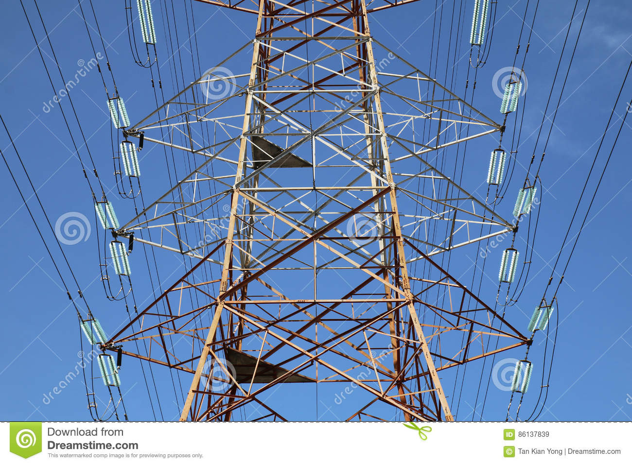 Grid electricity transmission tower