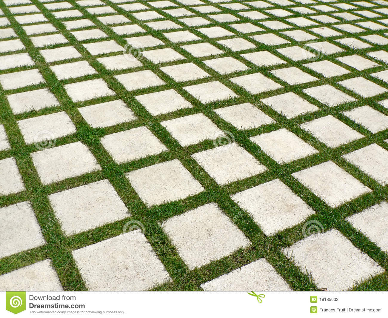 Grid of grass and paving stones stock photo image of for Green pavers