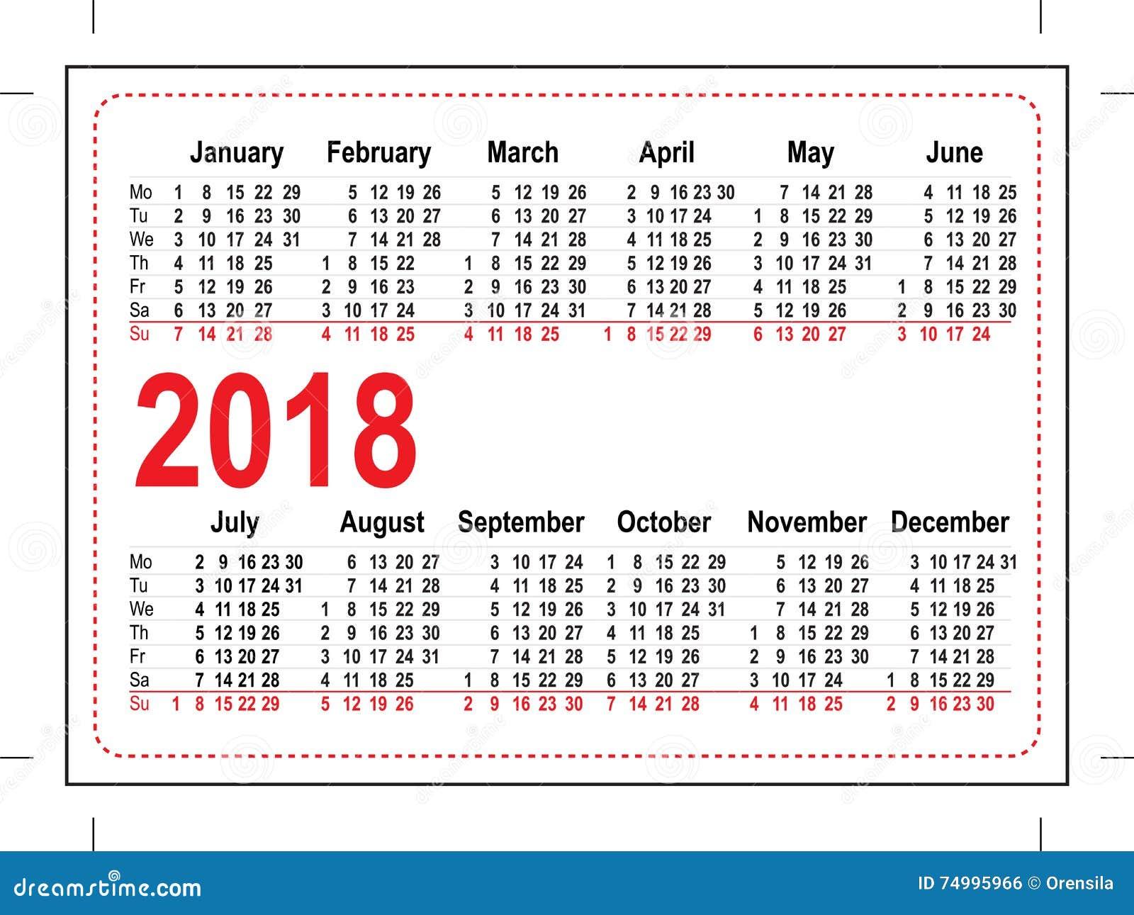 grid pocket calendar illustration vector format 74995966