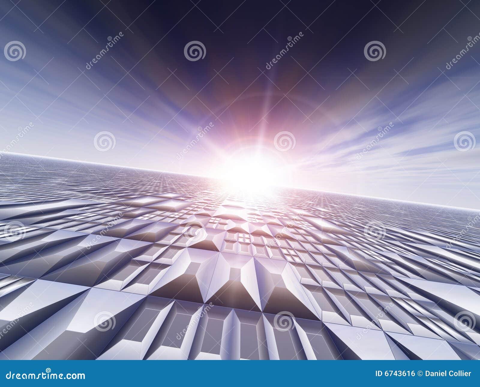 Grid Technology Background Royalty Free Stock Image