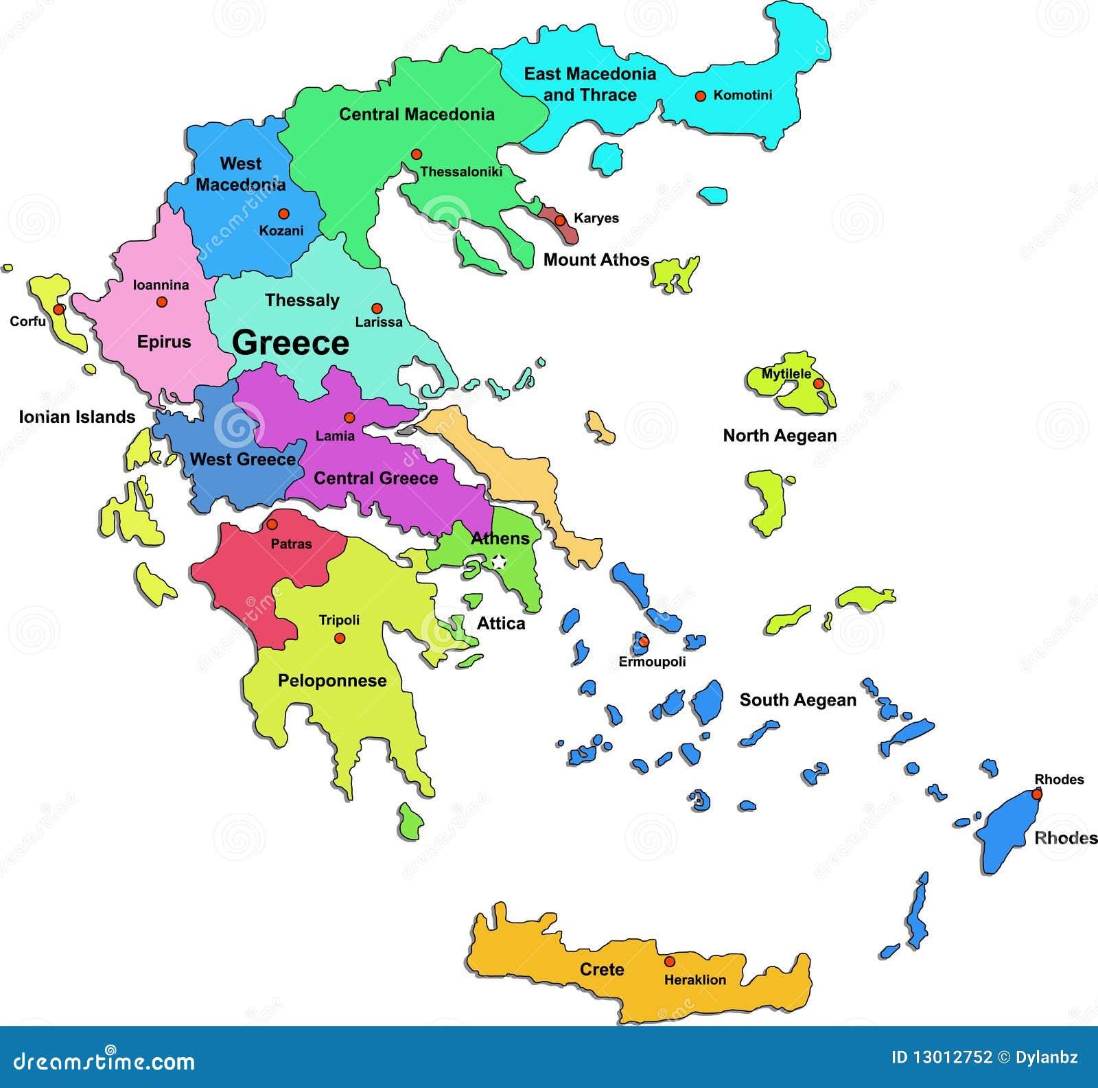 Kalokairi Island Greece Map