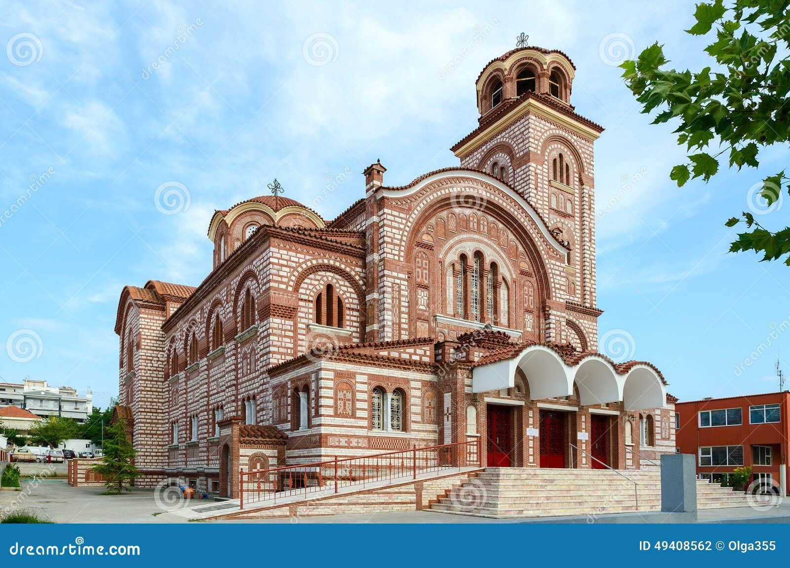 Download Griechenland, Nea Kallikratia Kirche Von St Paraskeva Stockfoto - Bild von religion, dorf: 49408562
