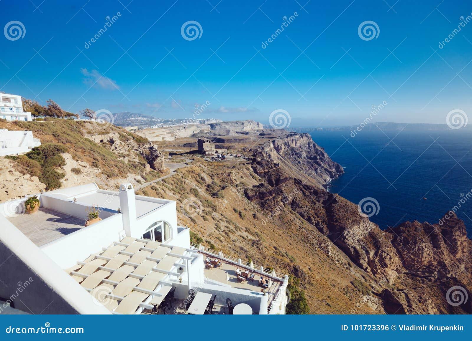 Griechenland Santorini 1 Oktober 2017 Urlaub Machende Leute Auf