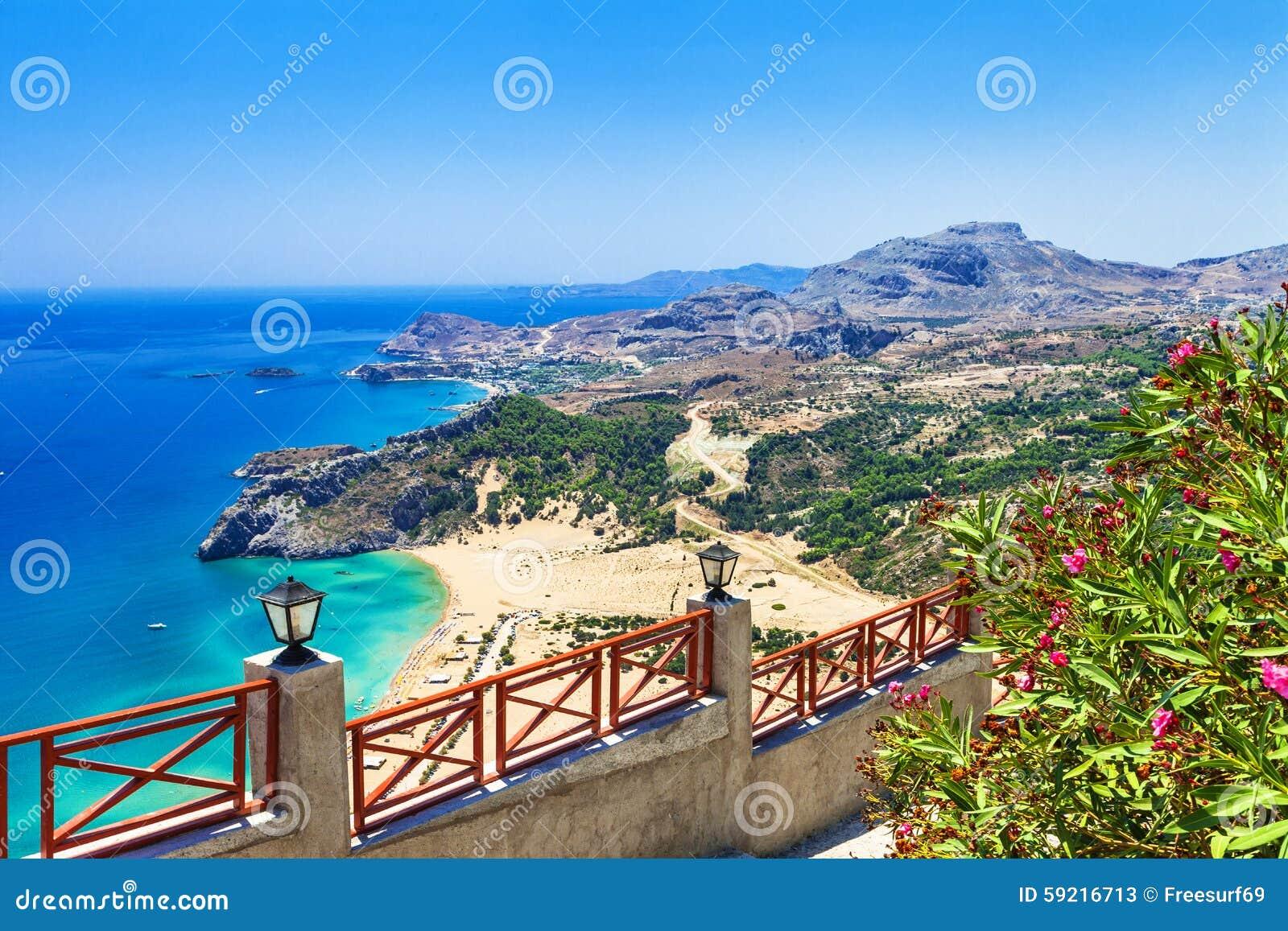 Griechenland Strände Von Rhodos Insel Stockbild Bild Von