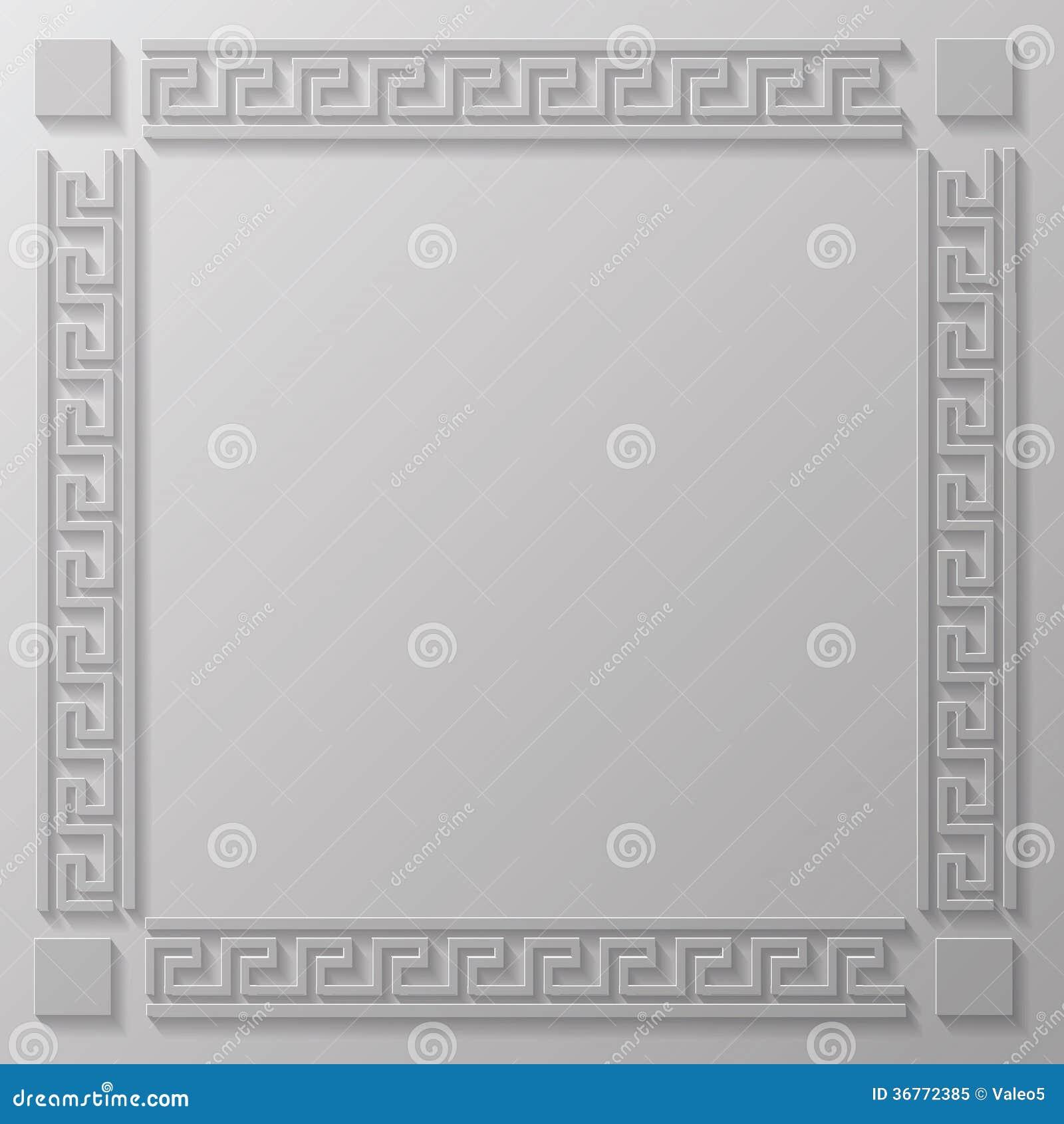 Griechischer Rahmen vektor abbildung. Illustration von antike - 36772385