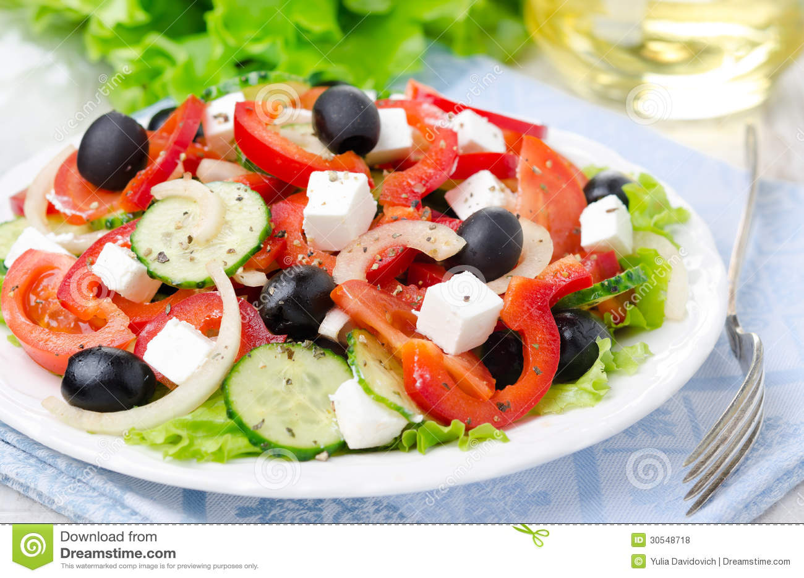 Griechischer salat feta oliven