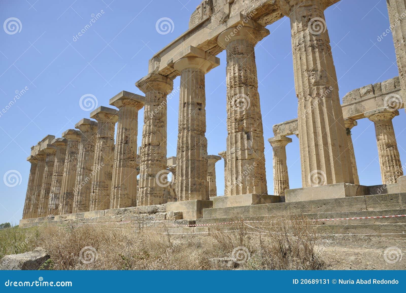 Griechischer Tempel in Sizilien. Italien.