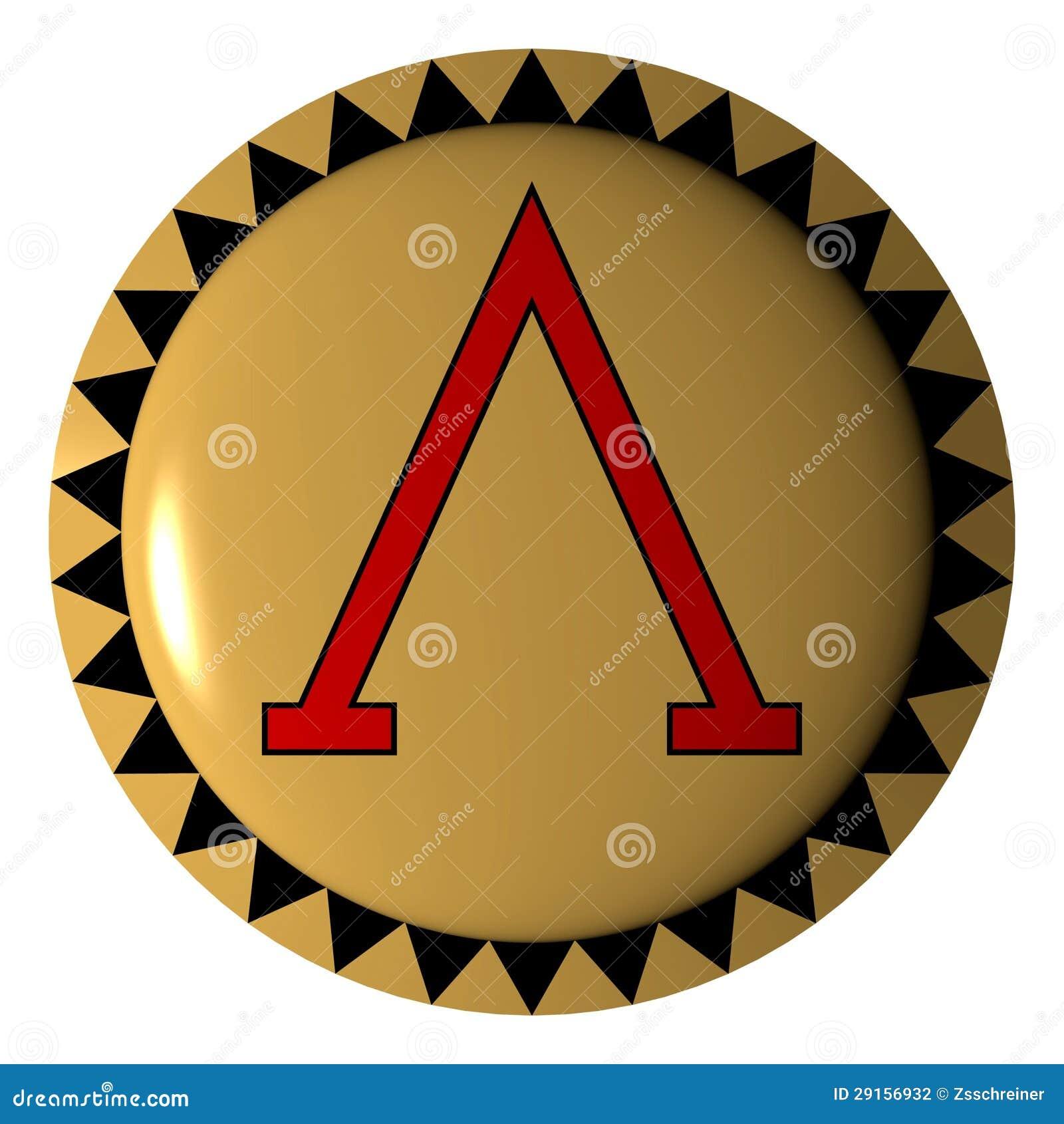 Greek Letter Athenian Shield