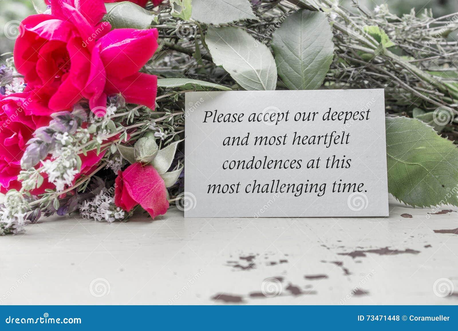 how to send a condolence text