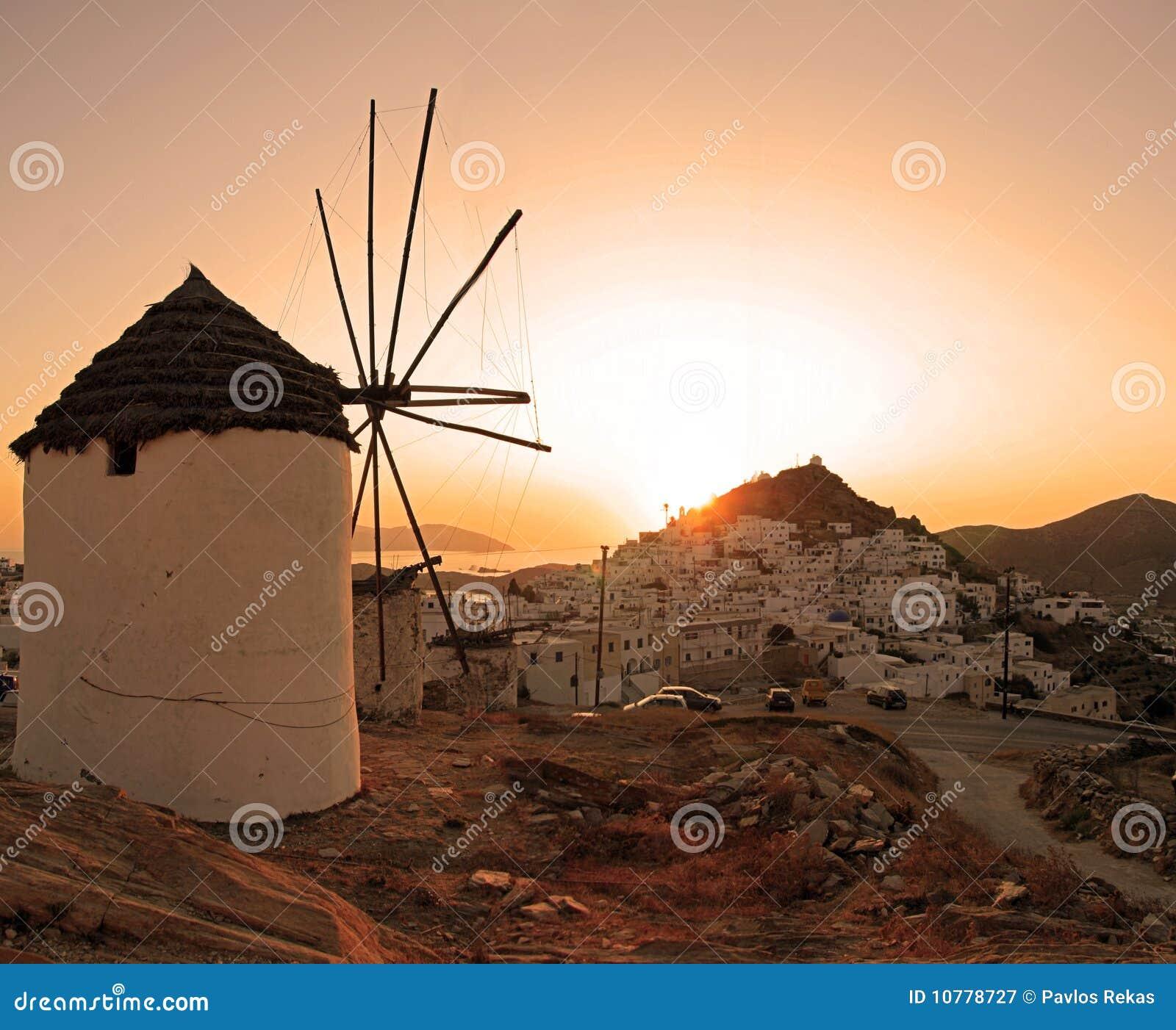 Griekenland, Ios Eiland, zonsondergang