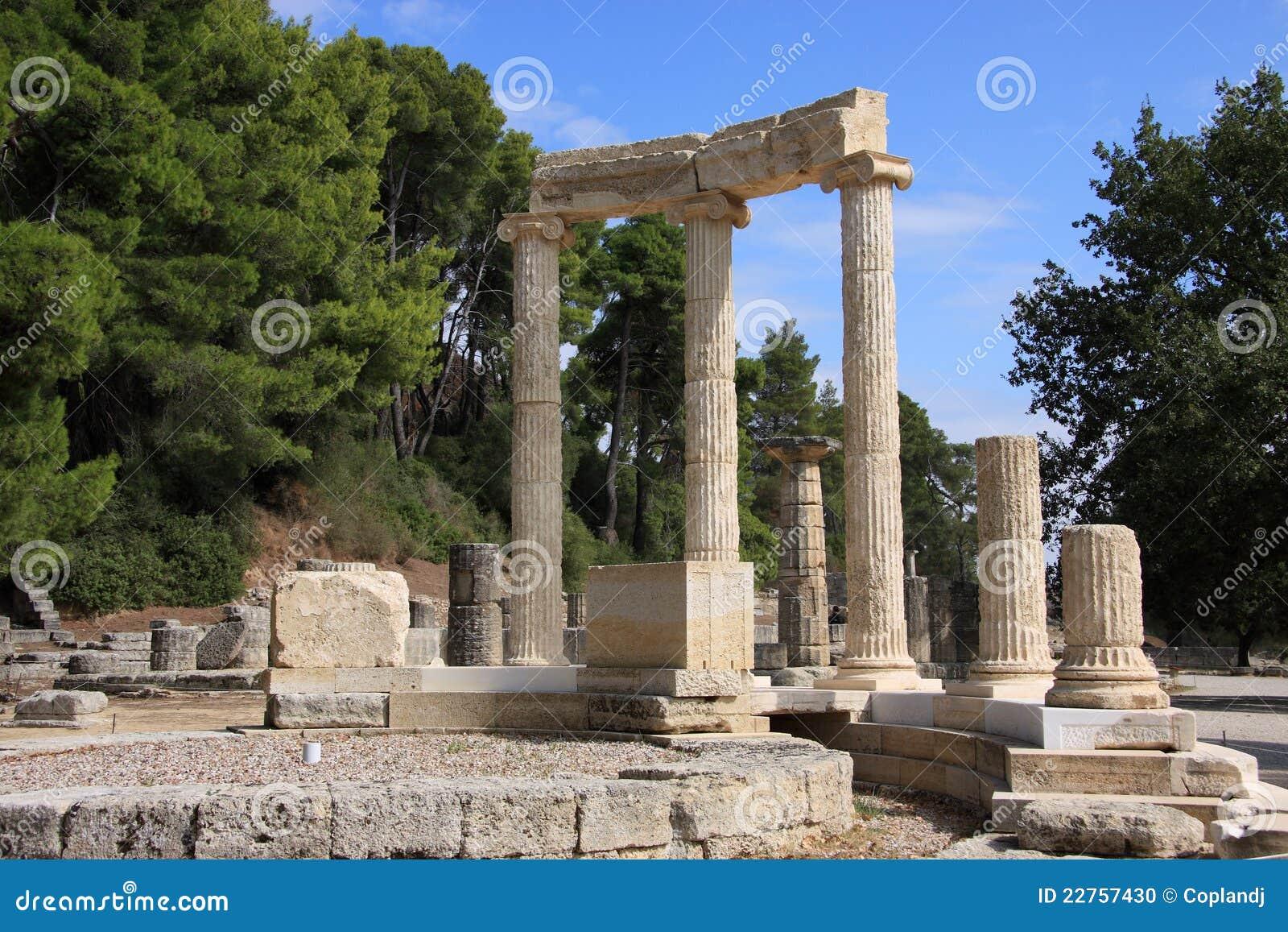 Griekenland Olympia Ruins Van Olympia Stock Foto