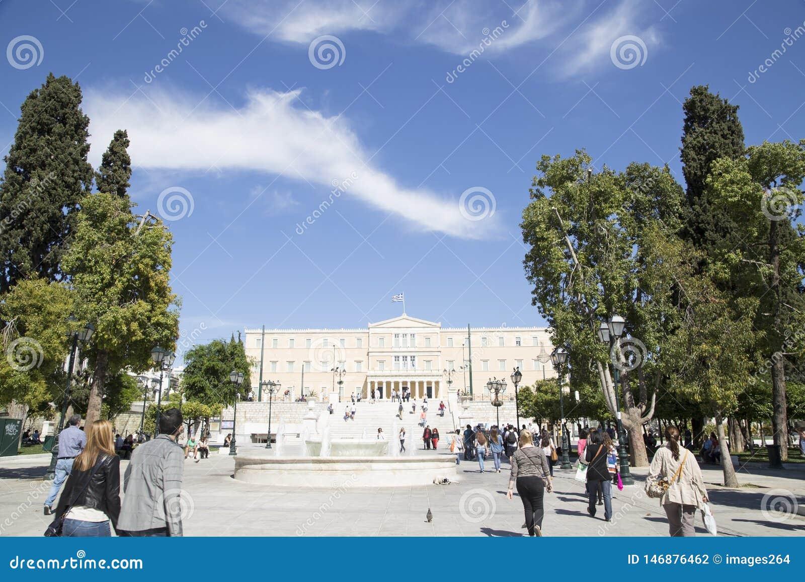 Grieks het Parlement Gebied, 17 Mei 2014 Athene, Griekenland