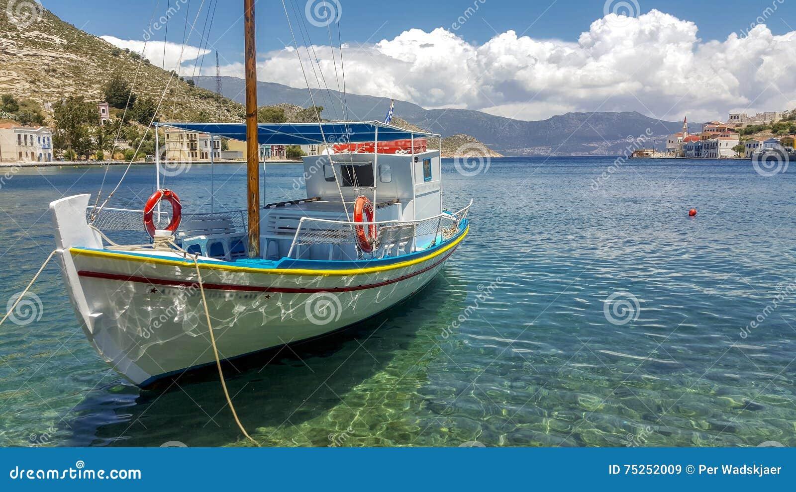 Griekse boot in Kastellorizo