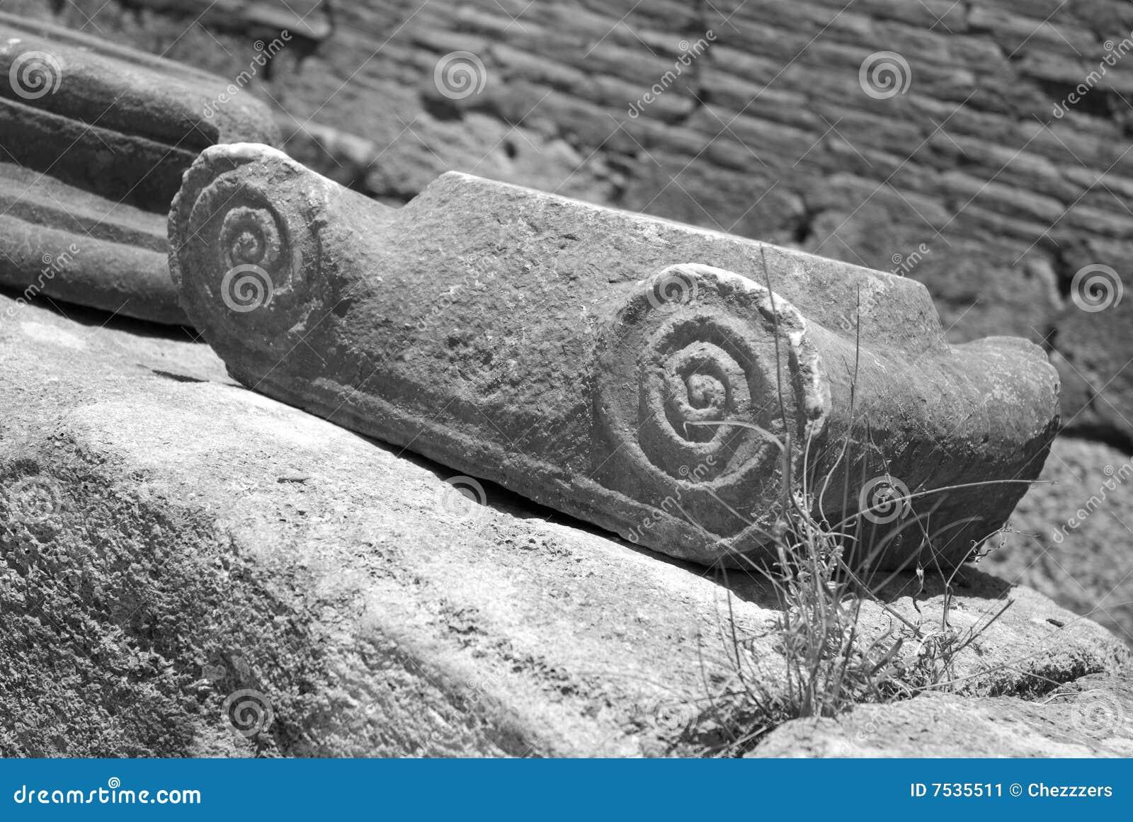 Griekse decoratie stock afbeelding afbeelding 7535511 - Oude griekse decoratie ...