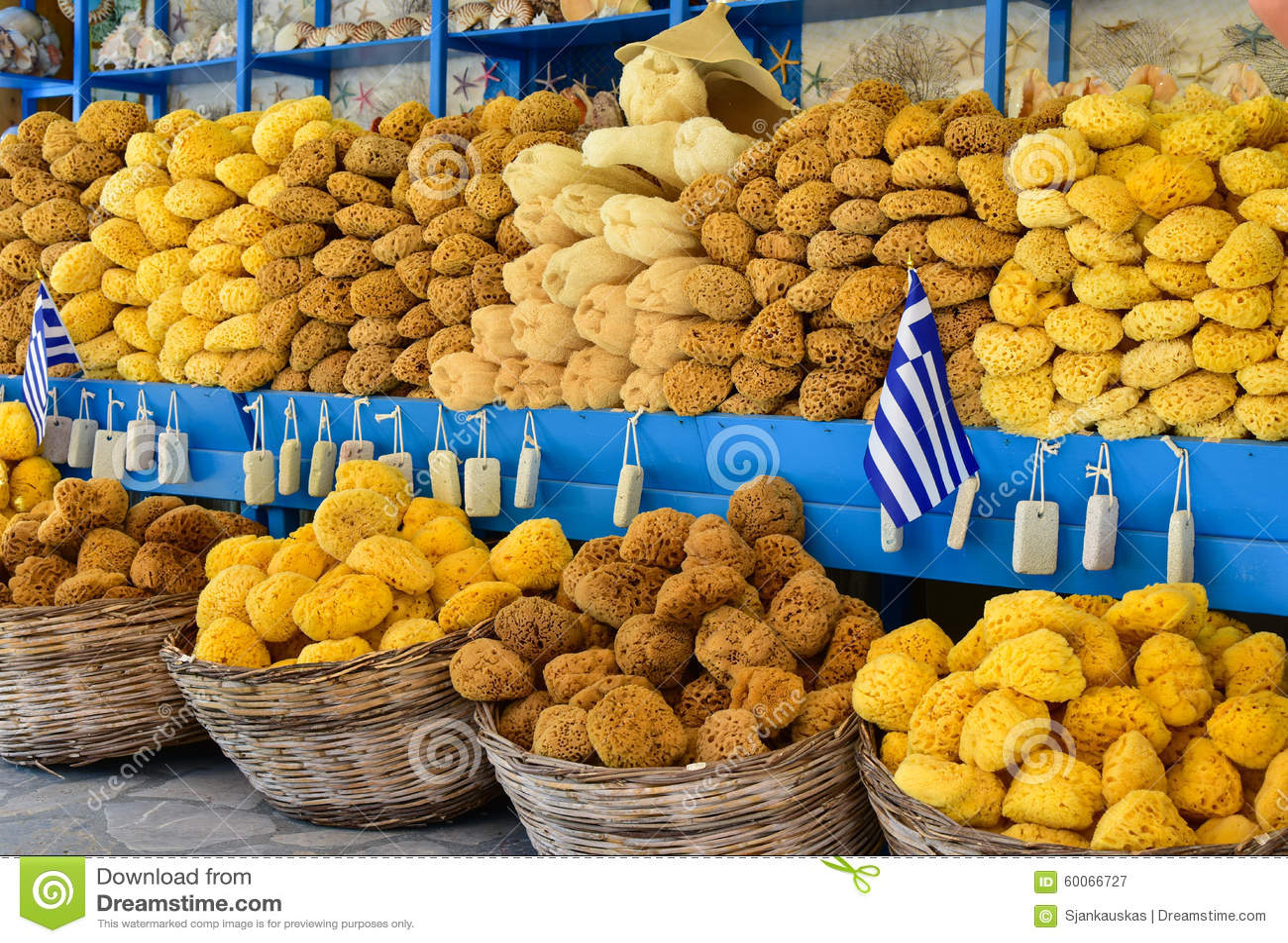 Griekse overzeese sponsen voor verkoop