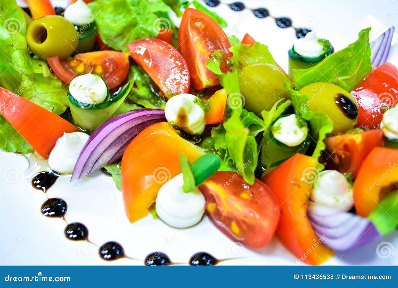 Griekse salade met kaas