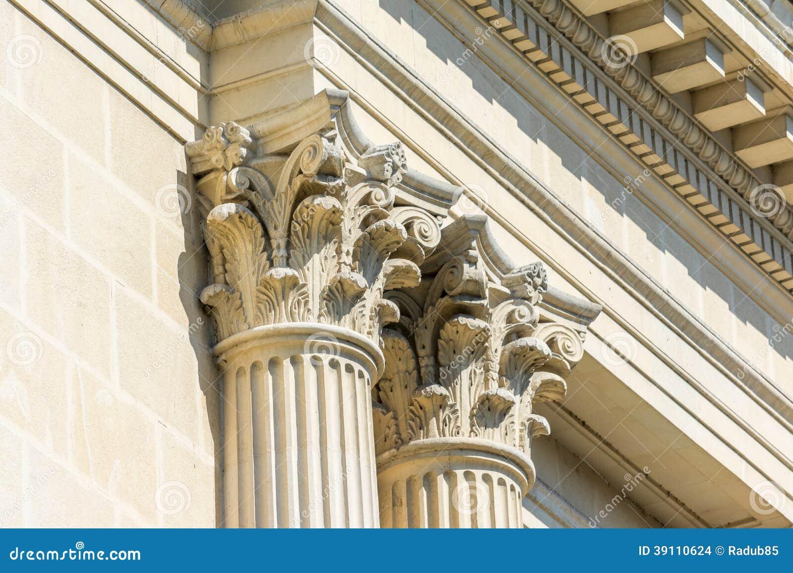 Griekse Steen Corinthische Kolommen