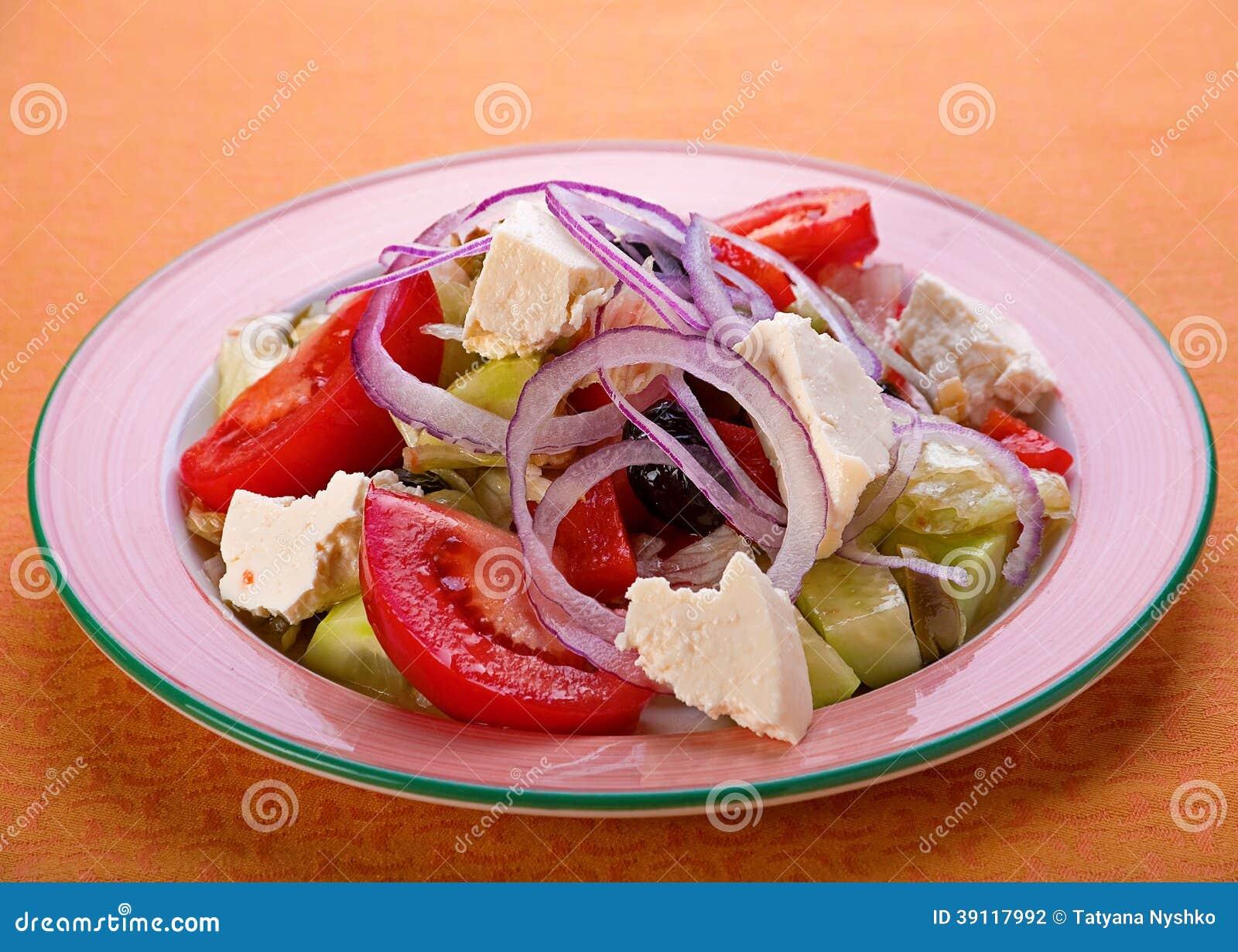 Griekse vegitarian salade