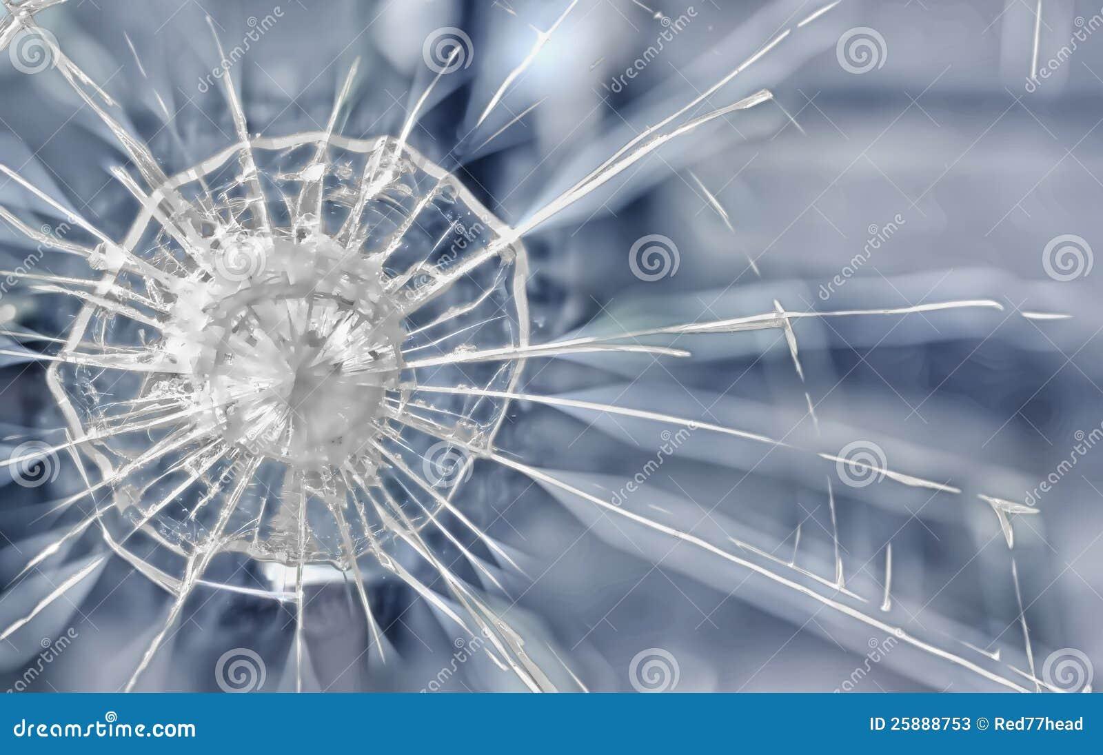 Grietas en un cristal blindado fotos de archivo imagen for Precio cristal blindado
