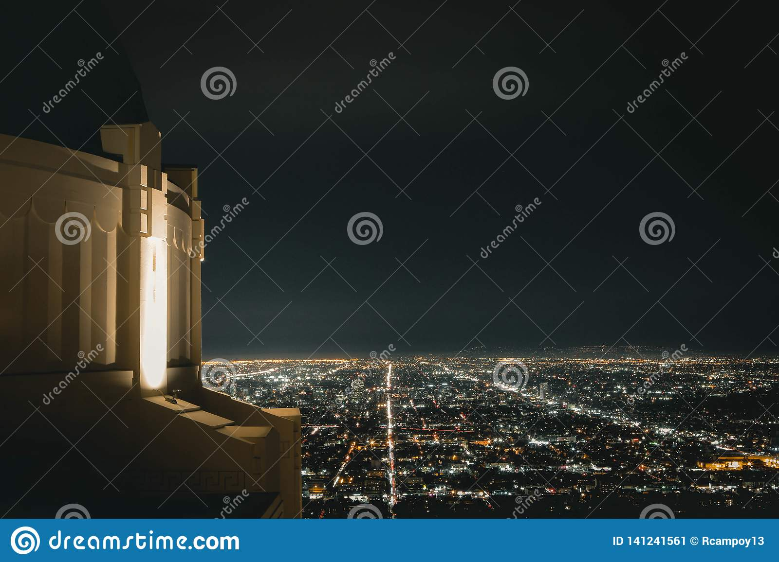 Griffith Observatory alla notte