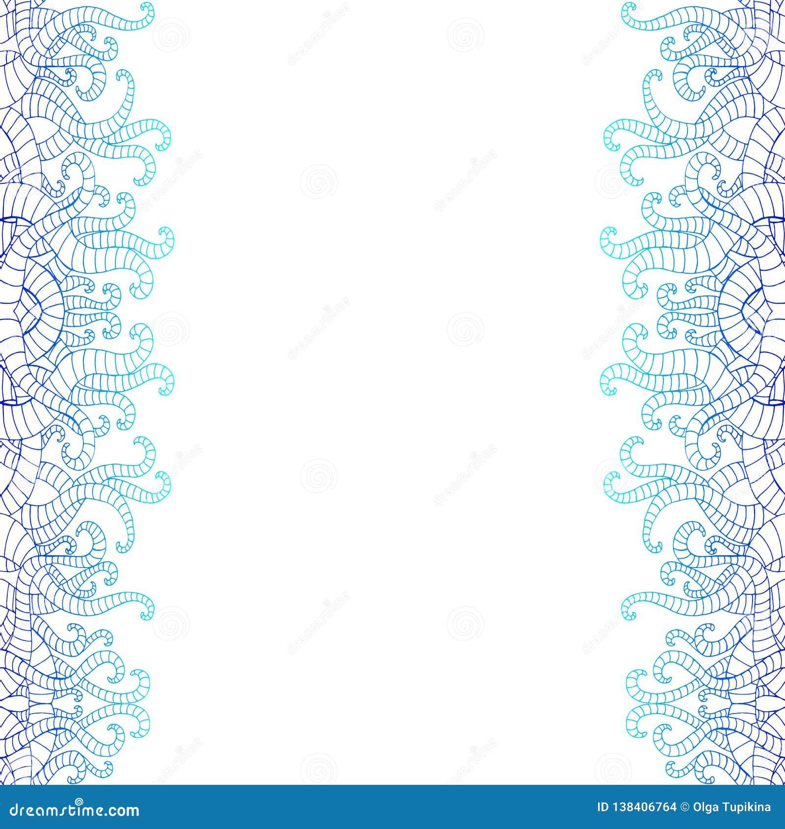 Griffonnage Decoratif Vertical Seamlesspattern A L Arriere Plan Blanc Couleurs Bleues Et Bleu Fonce De Gradient Abrege Sur Vinta Illustration De Vecteur Illustration Du Illustration Tabouret 138406764