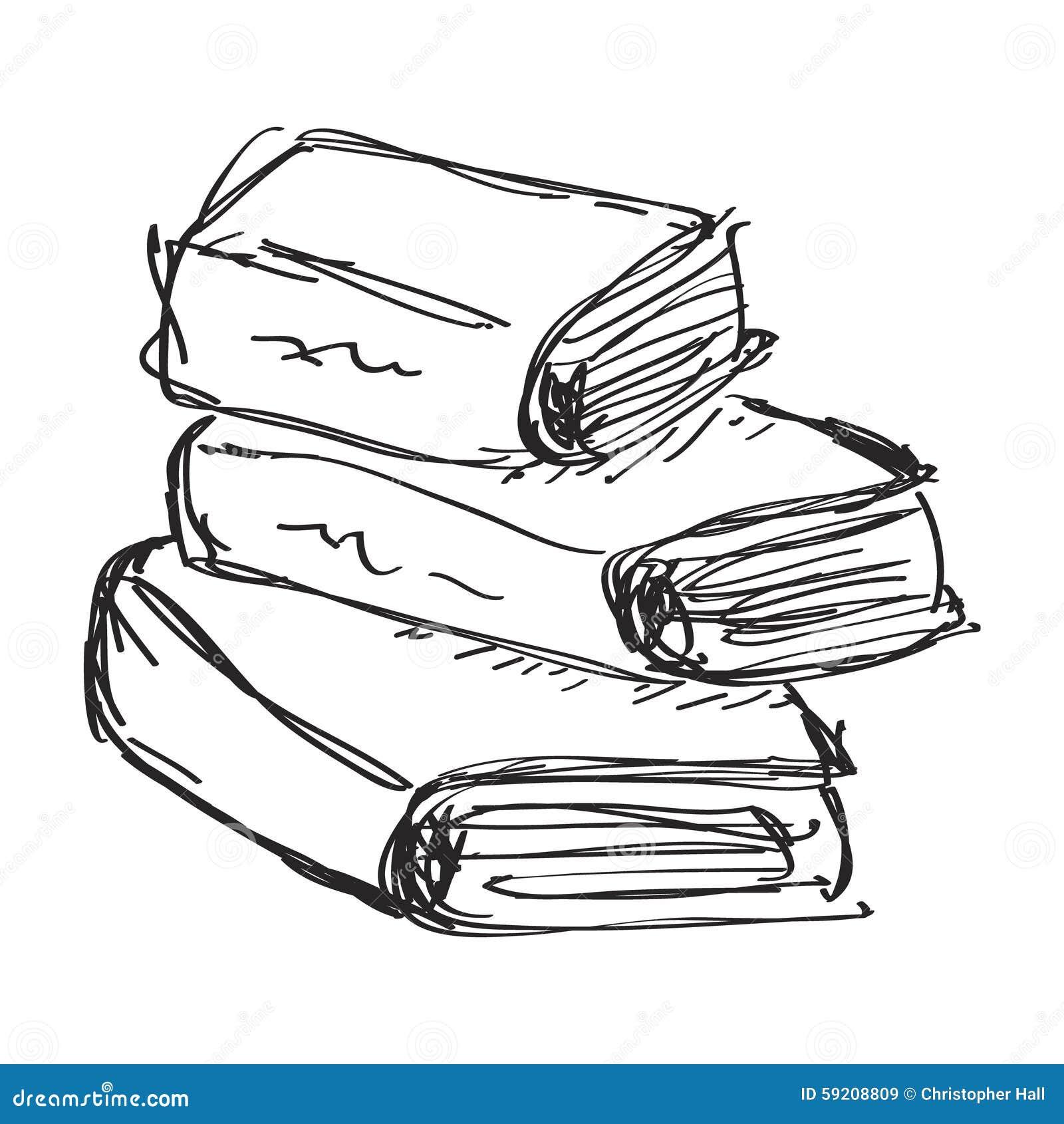 Griffonnage Simple D Un Livre Illustration De Vecteur