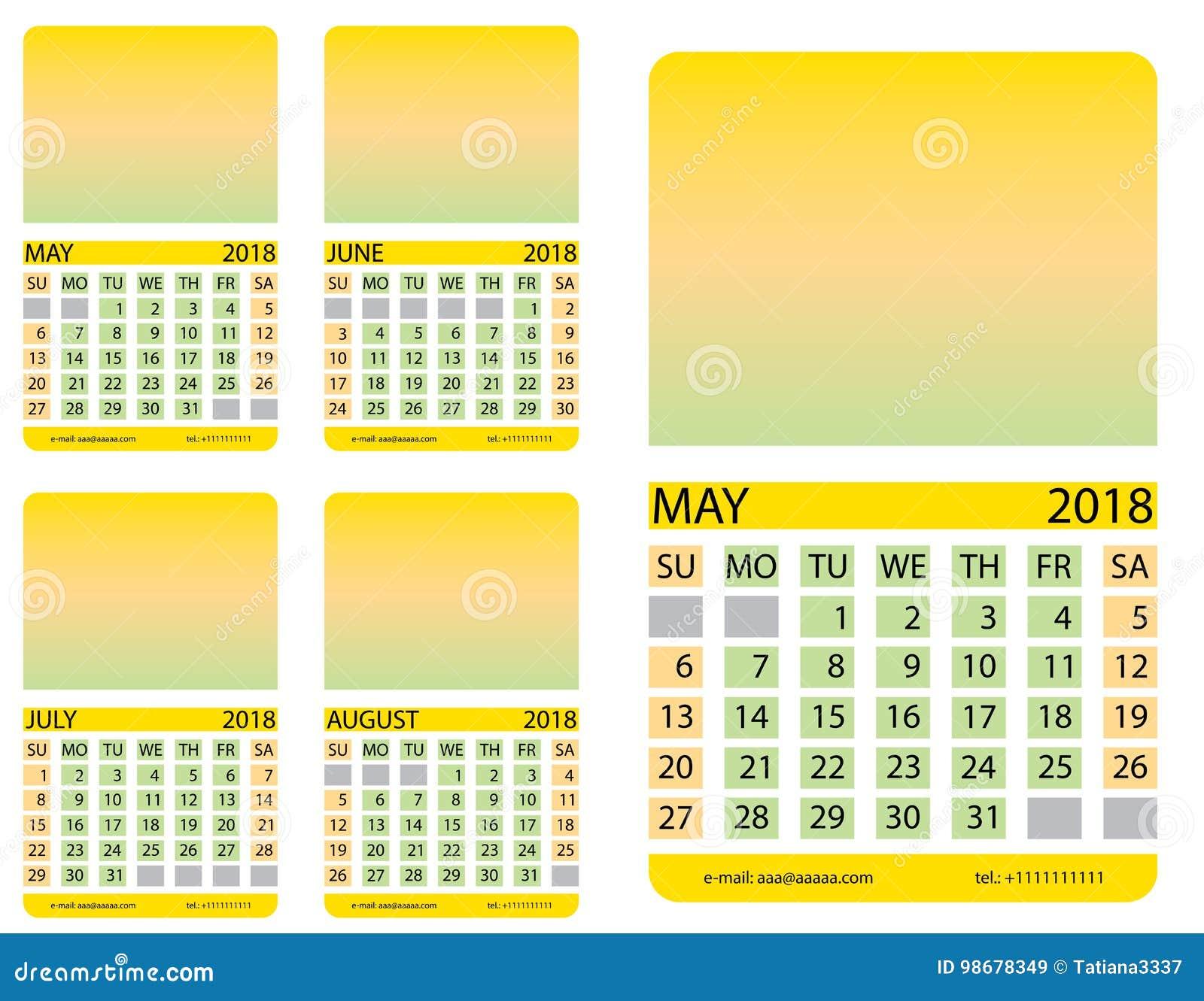 Calendario Luglio Agosto.Griglia Del Calendario Possa Giugno Luglio Agosto