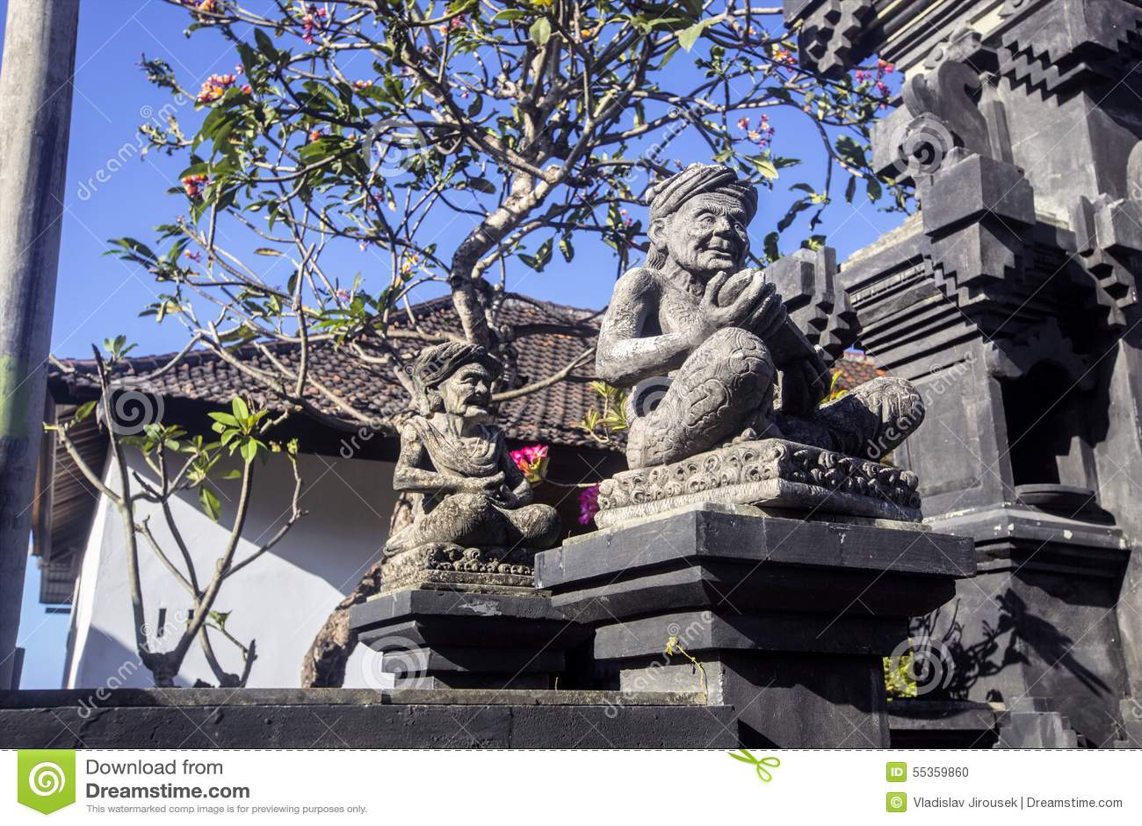 Griglie proteggi faro della casa, Nusa Penida, Indonesia