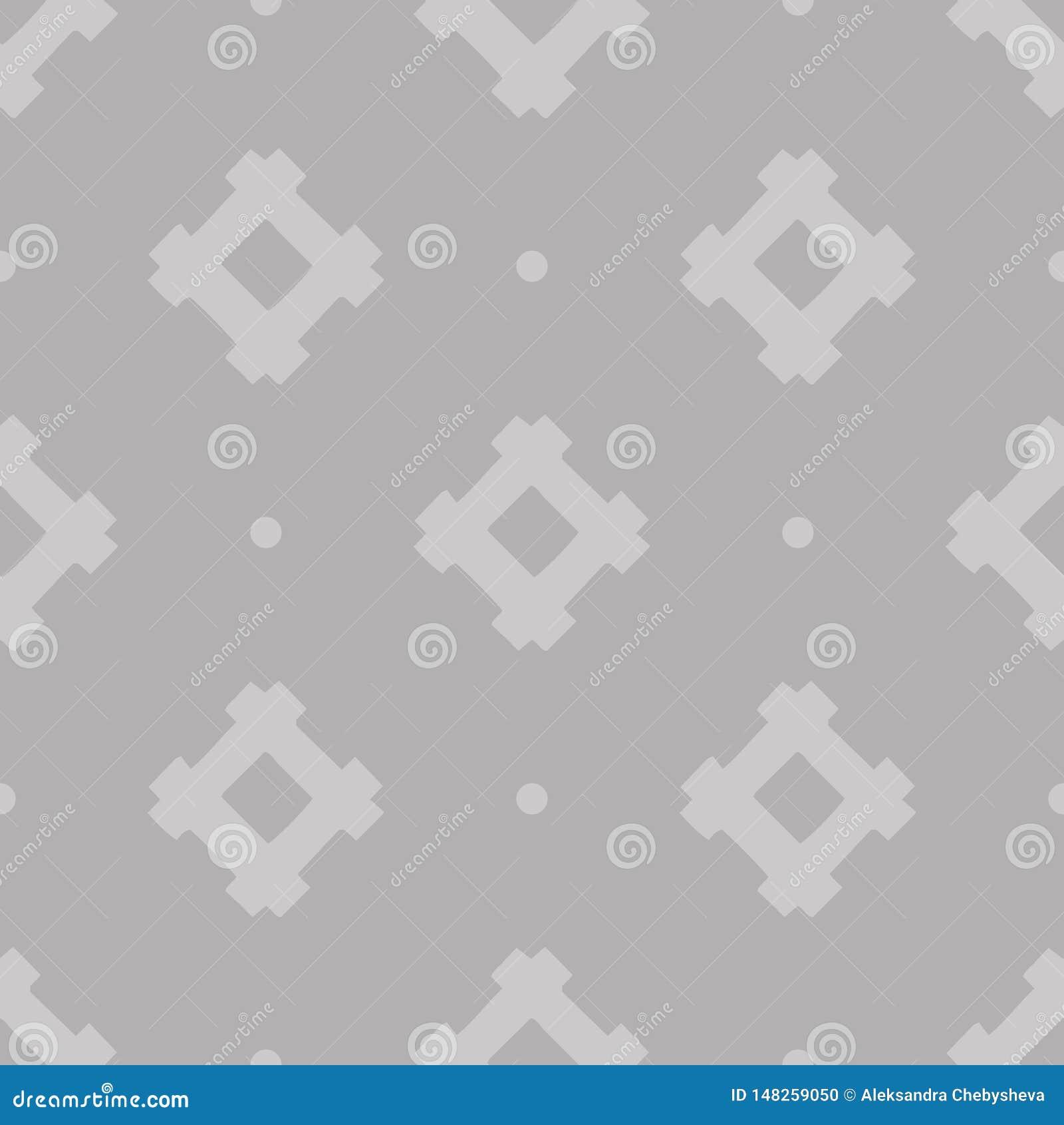 Grijs abstract vector Etnisch geometrisch naadloos patroon op grijze achtergrond