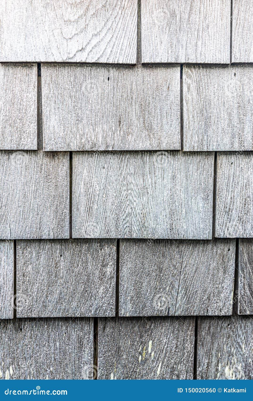 Grijs houten het patroonportret van de dakspaantextuur