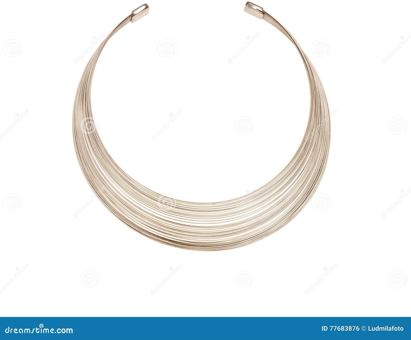 Grijs metaal om halsband