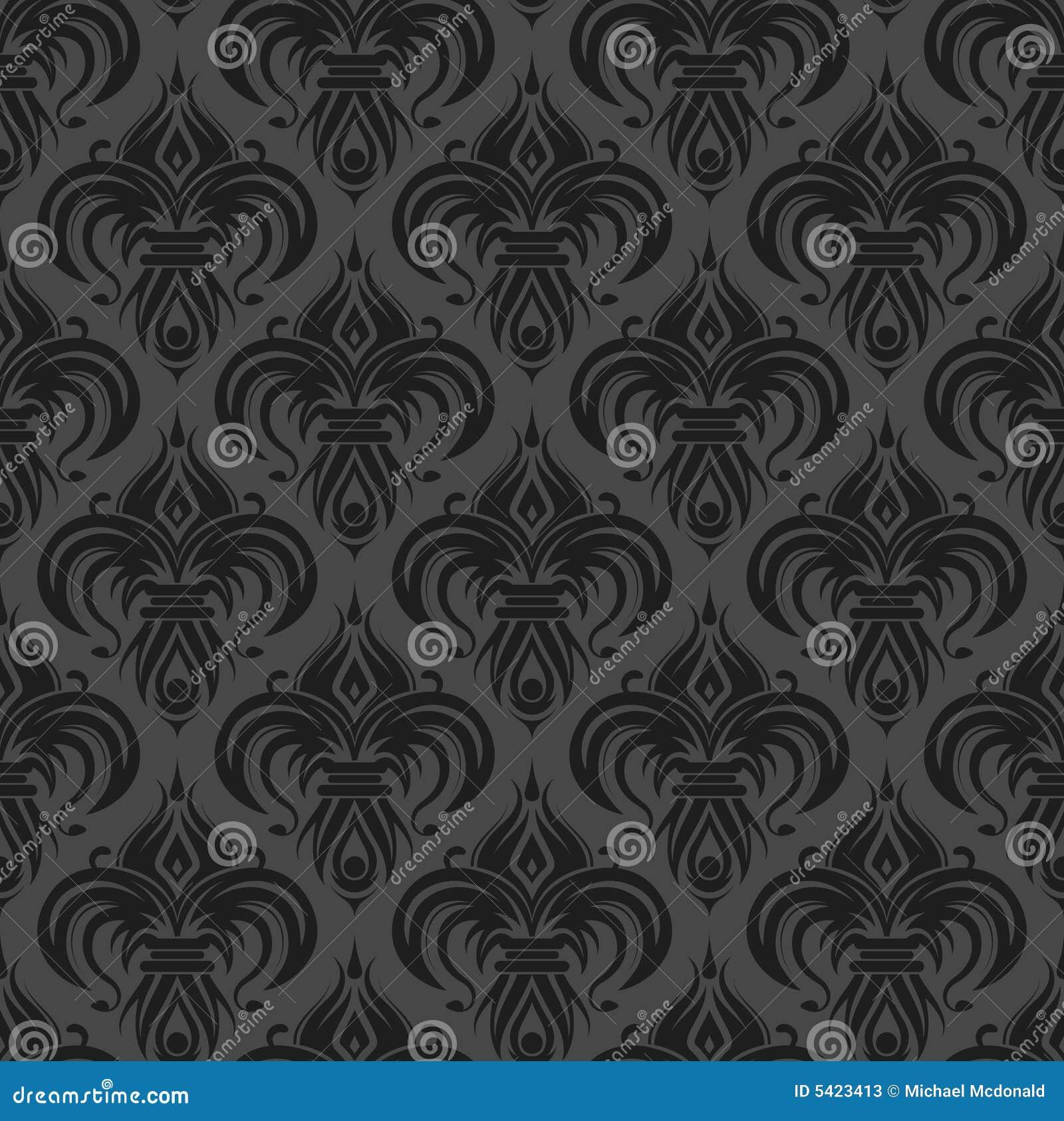 Grijs zwart antiek naadloos behang stock foto 39 s afbeelding 5423413 - Grijs behang ...