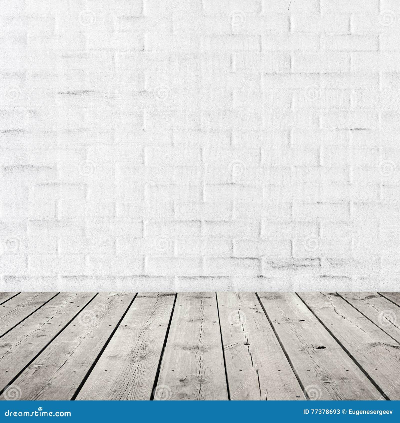 Grijze houten vloer en witte bakstenen muur stock afbeelding afbeelding 77378693 - Grijze en rode muur ...