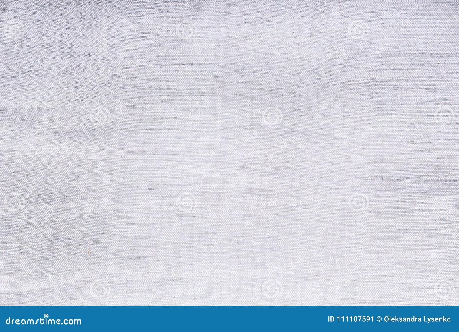 Grijze linnentextuur Hoogste mening en exemplaarruimte Spot omhoog Patroon Malplaatje en lege achtergrond