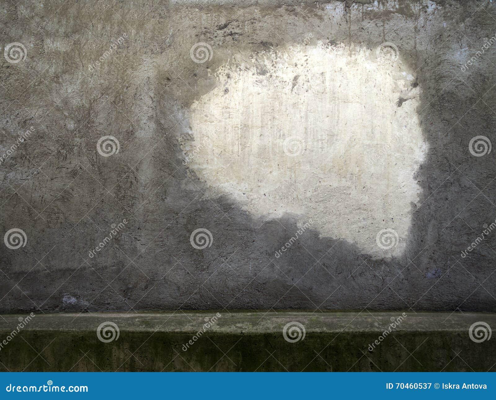 Grijze pleister schor oude muur met wit geschilderd deel 1 stock ...