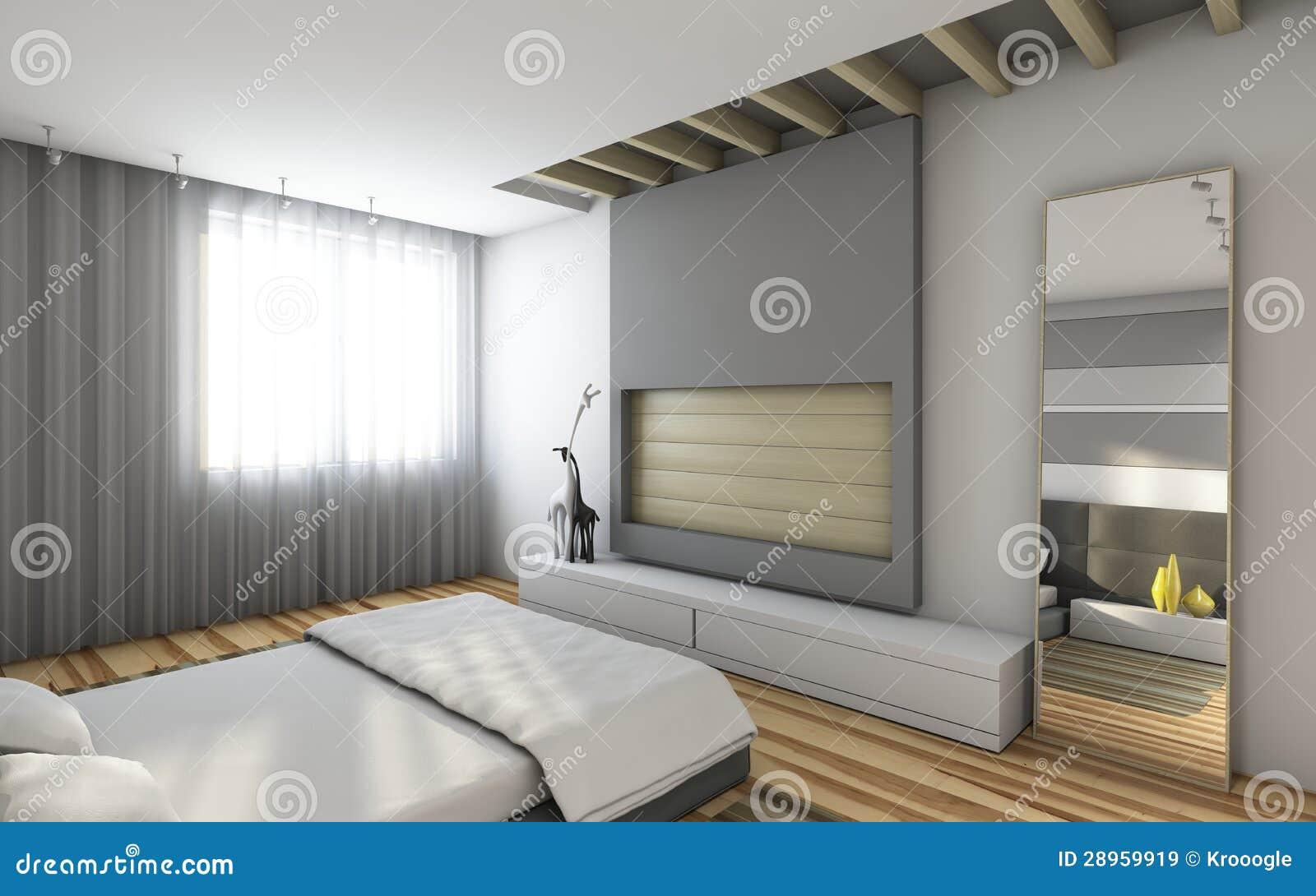 Grijze slaapkamer royalty vrije stock afbeeldingen beeld 28959919 - Grijze slaapkamer ...