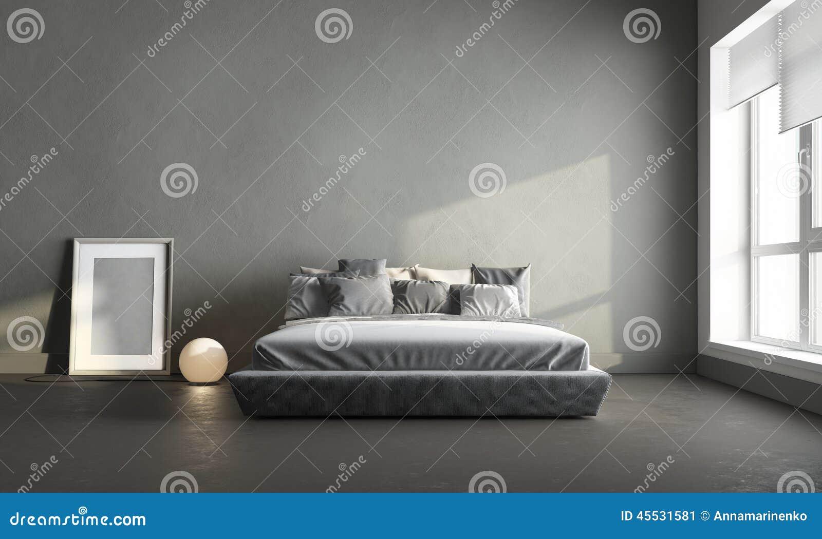 Grijze slaapkamer stock afbeelding afbeelding bestaande uit meubilair 45531581 - Grijze slaapkamer ...