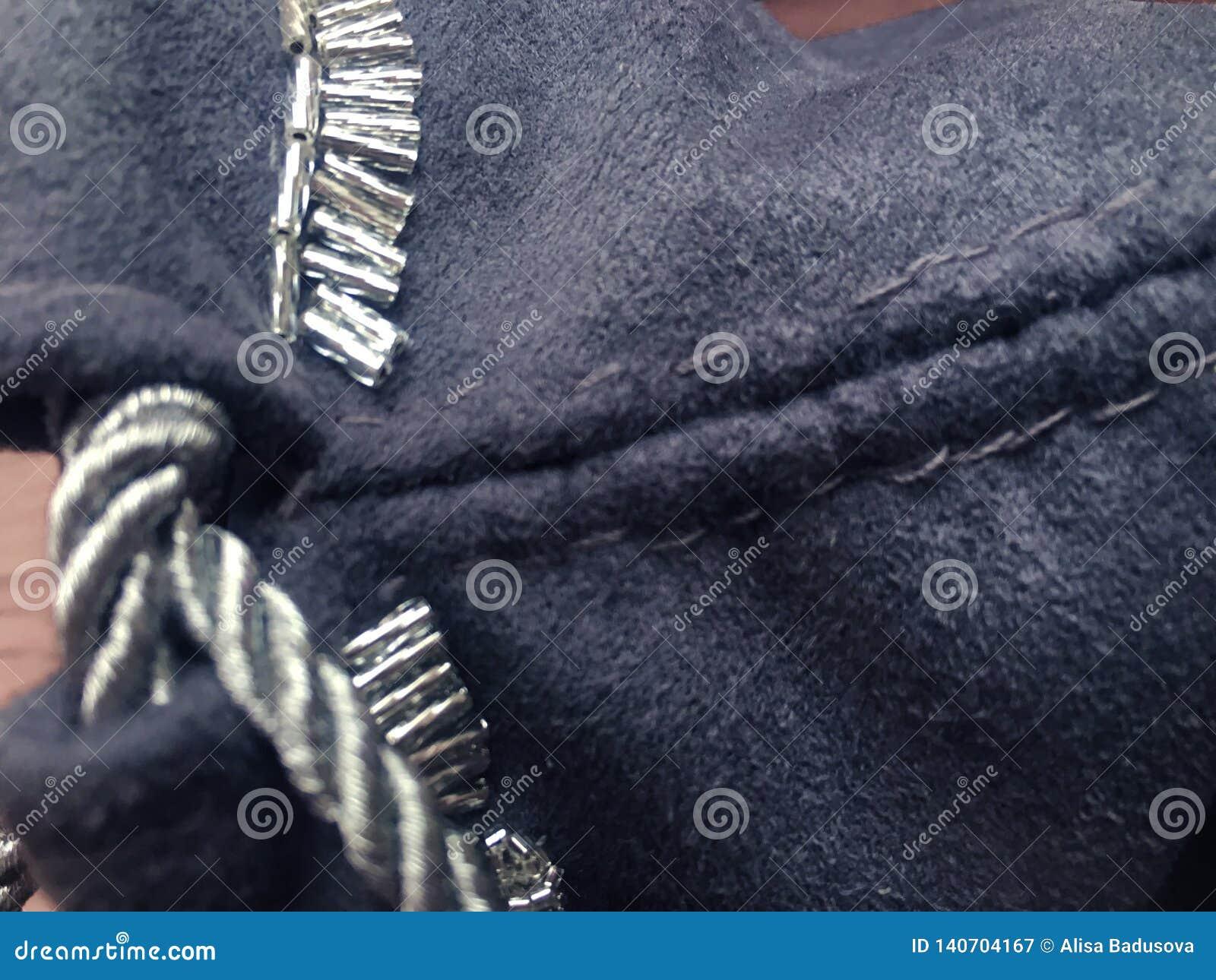 Grijze textielzak van de voorspellings de esoterische heks voor tarot en runen