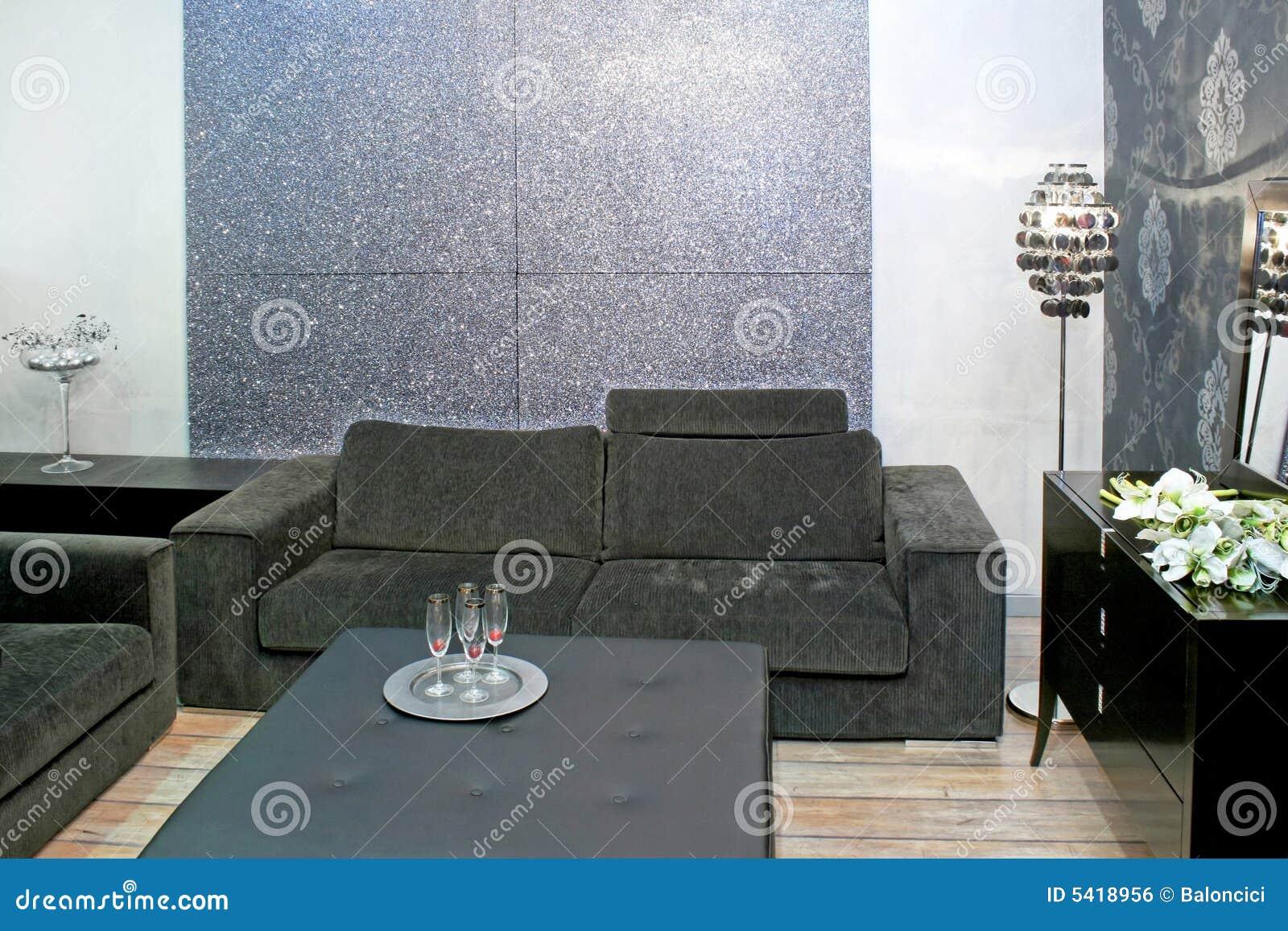 Grijze woonkamer royalty vrije stock afbeelding beeld Grijze woonkamer