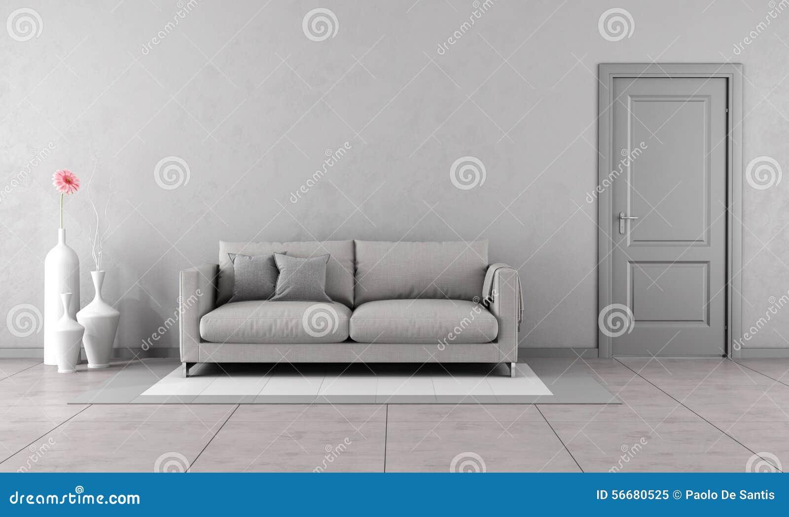 Grijze woonkamer stock illustratie   afbeelding: 56680525