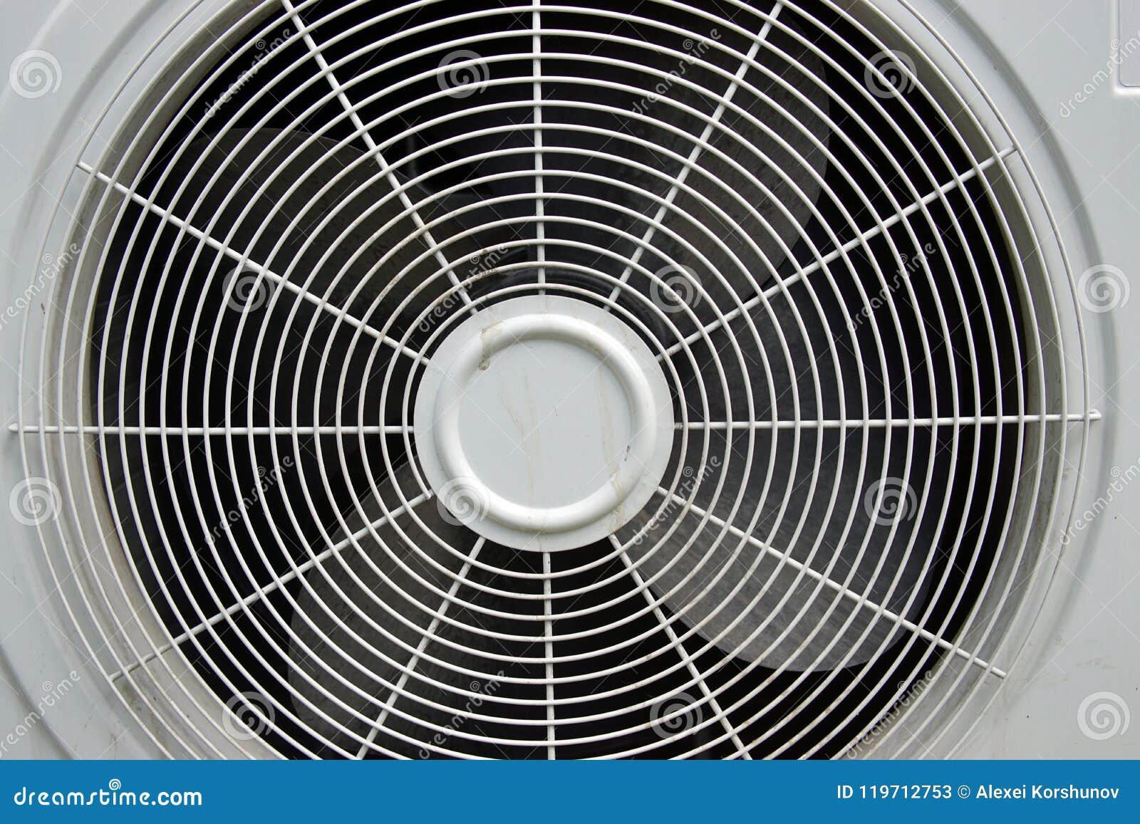 Cache Unité Extérieure Climatisation gril de l'unité extérieure du climatiseur image stock