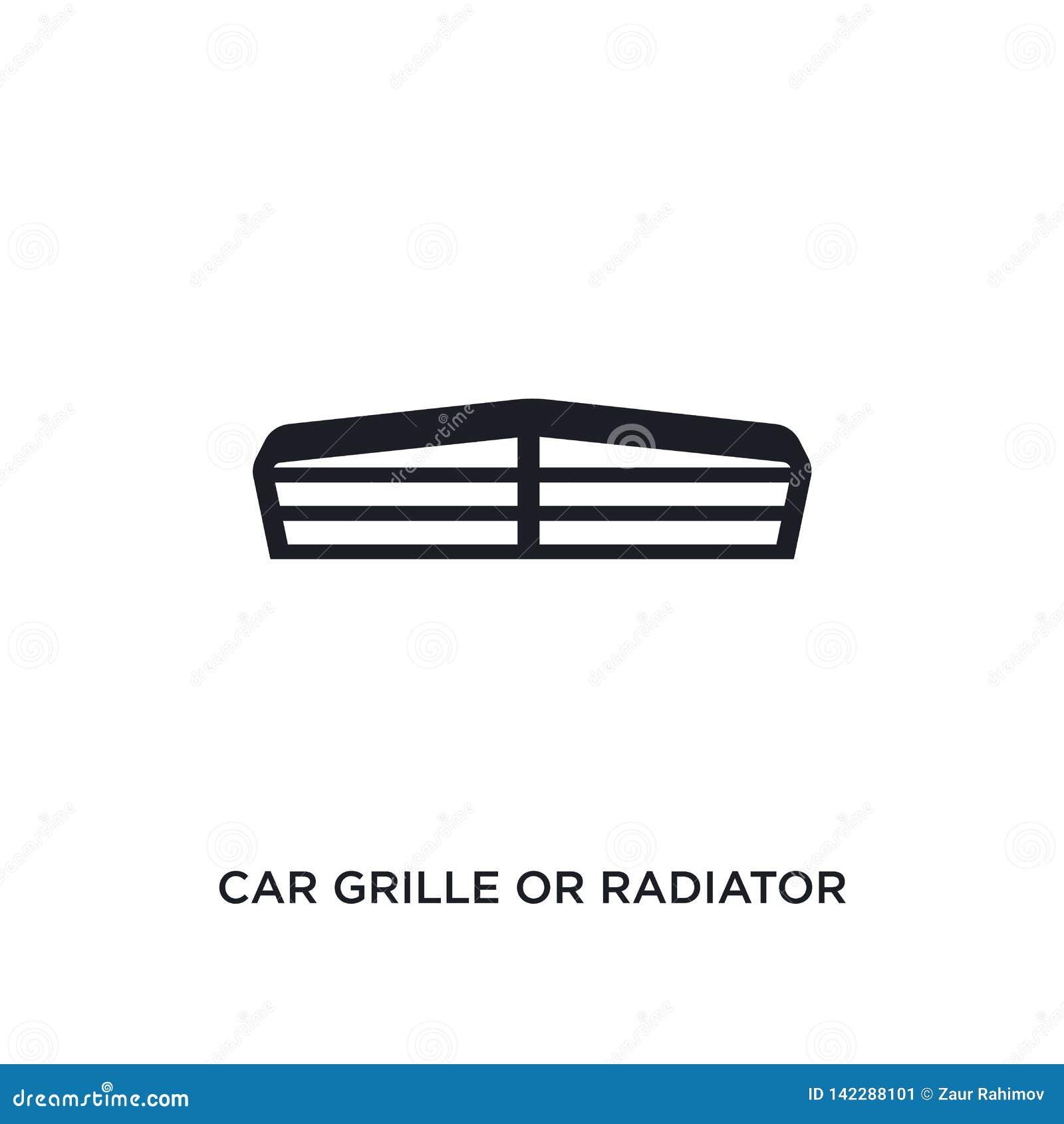 Gril de voiture ou icône d isolement de gril de radiateur illustration simple d élément des icônes de concept de pièces de voitur