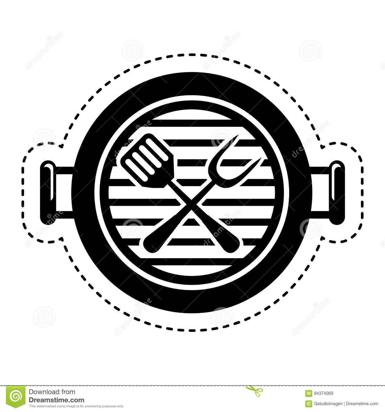grill bbq isolated icon