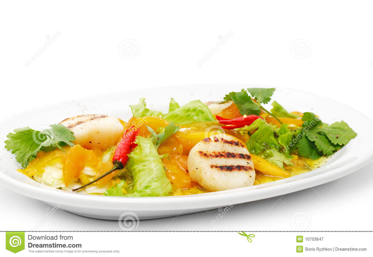 Grill fish with vegetables royalty free stock photography for Fish with vegetables