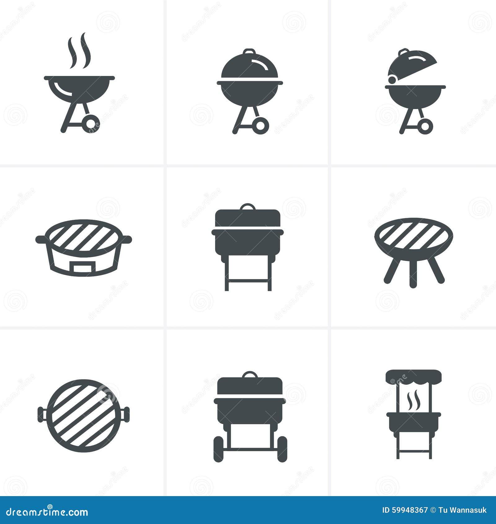 the grill icon barbeque symbol stock illustration illustration 59948367. Black Bedroom Furniture Sets. Home Design Ideas